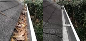 High pressure cleaning including gutter cleaning